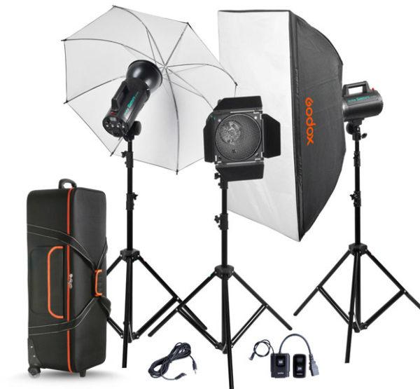 Godox GS400-A 3 Light Studio Kit