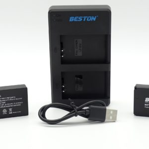 BESTON LP-E12 LPE12 LP E12 CAMERA BATTERY PACK AND QUICK USB DUAL CHARGER FOR CANON