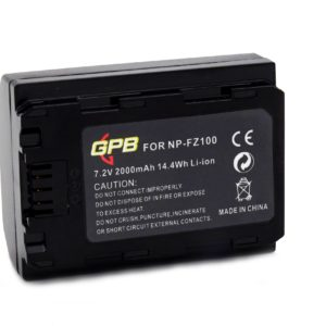 GPB NP-FZ100 BATTERY FOR SONY CAMERA