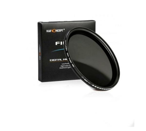 K & F 37mm ND2 to ND400 Variable Neutral Density ND Filter