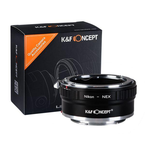 K&F Concept Lens Mount Adapter for Nikon G/F/AI/AIS/D Lenses to Sony E Camera Body