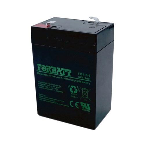 6V 4.5AMP Sealed Lead Acid Battery