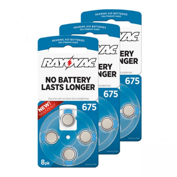Rayovac 675AE Hearing Aid Batteries (Cards of 8)