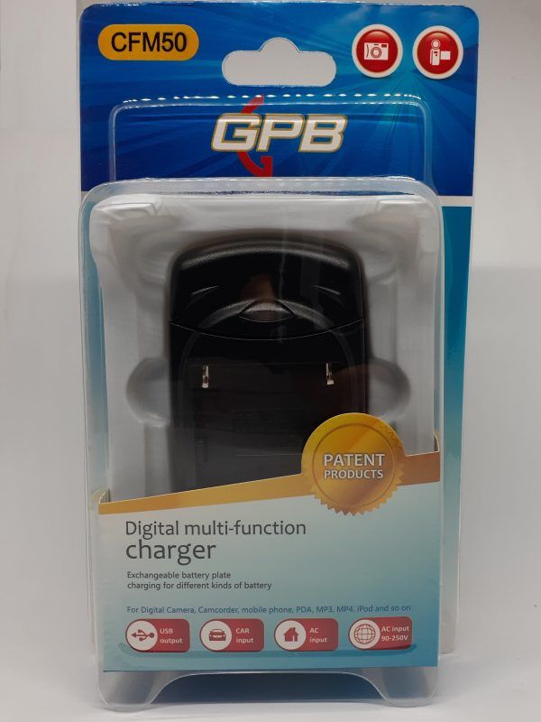 GPB LS-PC8 8-in-1 Multi-Function Battery Charger with USB Port